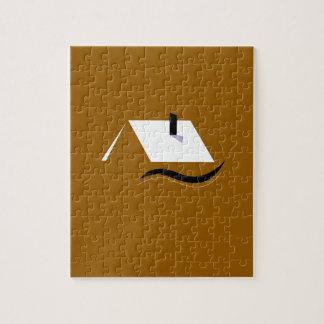 Puzzle Blanco casero del oro del diseño