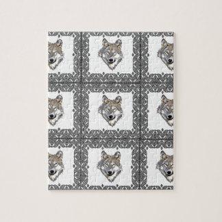 Puzzle Bloque de lobos grises