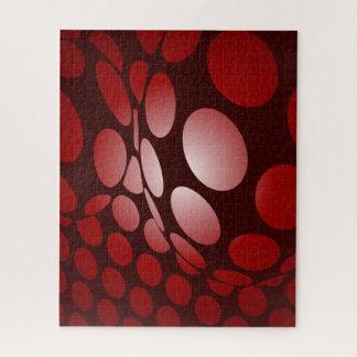 Puzzle Borgoña y puntos deformados rojo