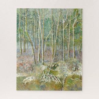 Puzzle bosque del invierno