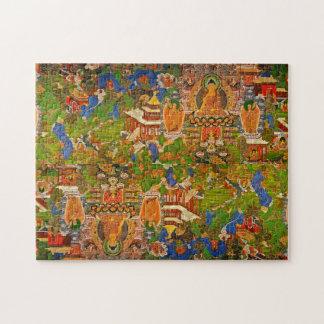 Puzzle Buddhism budista de Buda que bendice al bohemio de