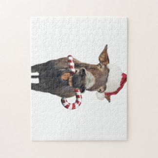 Puzzle Burro del navidad - burro de santa - burro santa