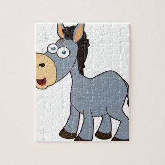 Puzzle burro gris