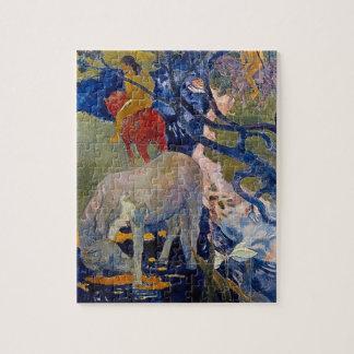 Puzzle Caballo blanco por Gauguin, arte del impresionismo