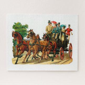 Puzzle Caballos y carro