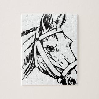 Puzzle Cabeza de dibujo del caballo