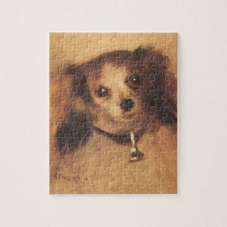 Puzzle Cabeza de un perro de Pedro Renoir, bella arte del