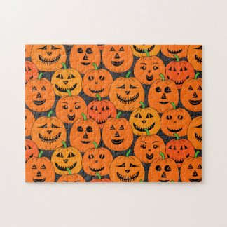Puzzle Calabaza de la linterna de Halloween Jack-o'