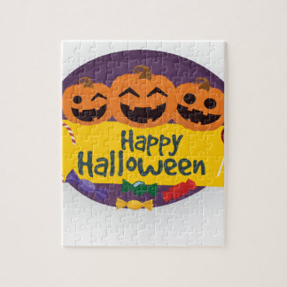 Puzzle Calabaza del feliz Halloween