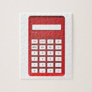 Puzzle Calculadora roja de la calculadora