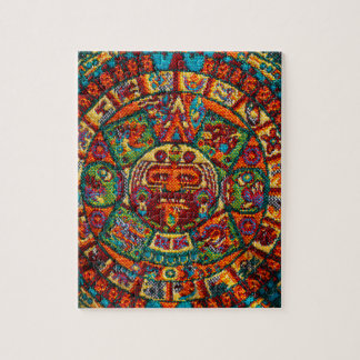 Puzzle Calendario maya colorido