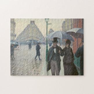 Puzzle Calle de París; Día lluvioso por Caillebotte