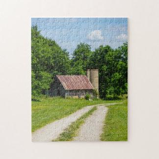 Puzzle Camino a través de una granja