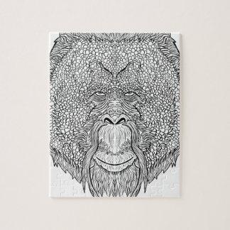 Puzzle Camiseta del mono del orangután - colorante del