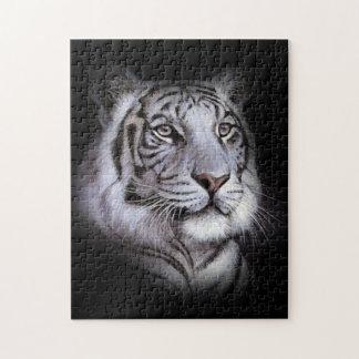 Puzzle Cara blanca del tigre