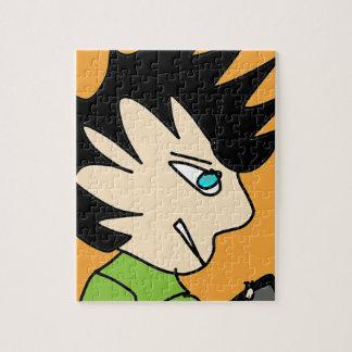 Puzzle cara del dibujo animado del niño del punto