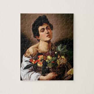 Puzzle Caravaggio - muchacho con una cesta de