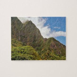 Puzzle Cascadas, después de la lluvia, valle de Iao, Maui