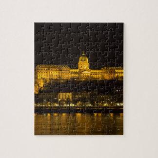 Puzzle Castillo Hungría Budapest de Buda en la noche