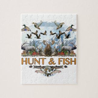 Puzzle Caza y pescados