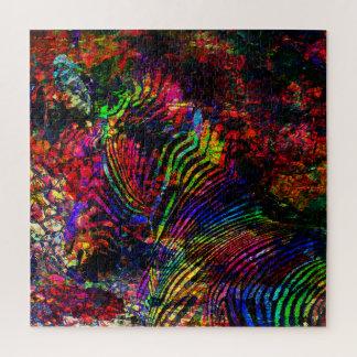 Puzzle Cebra abstracta