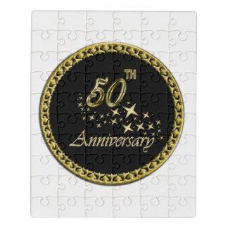 Puzzle Celebración del oro y del aniversario del negro