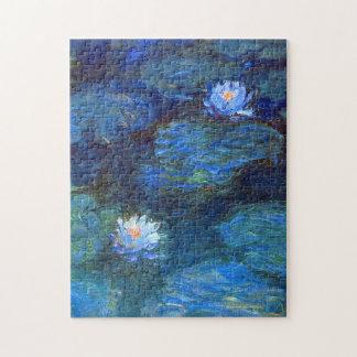 Puzzle Charca del lirio de agua en la bella arte azul de