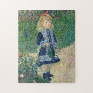 Puzzle Chica con una regadera de Auguste Renoir
