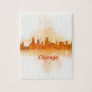 Puzzle chicago Illinois Cityscape Skyline Dark