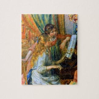 Puzzle Chicas jóvenes en el piano de Pedro Renoir