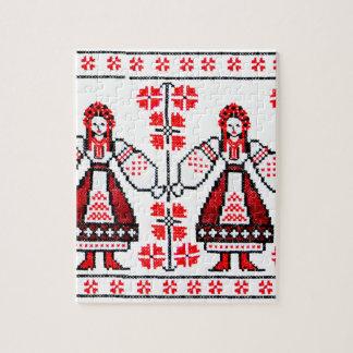 Puzzle Chicas ucranianos tradicionales de Ucrania del