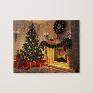 Puzzle Chimenea 8x10 del navidad