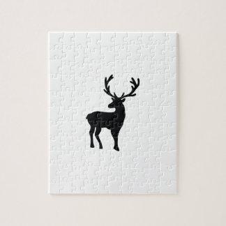 Puzzle Ciervos blancos y negros