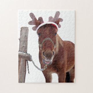 Puzzle Ciervos del caballo - caballo del navidad -