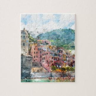 Puzzle Cinque Terre Italia en la Riviera italiana