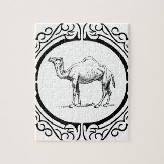 Puzzle círculo del camello