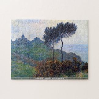 Puzzle Claude Monet - paisaje de la iglesia en Varengevil