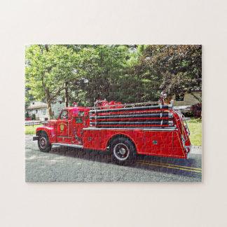 Puzzle Coche de bomberos de la autobomba del vintage
