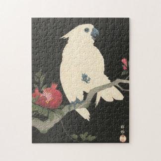 Puzzle Cockatoo japonés de la bella arte del vintage