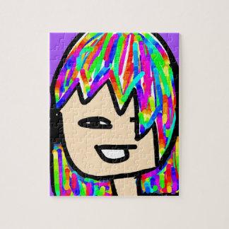 Puzzle colección del chica del hippie