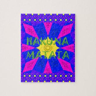 Puzzle Colores asombrosos hermosos del diseño de Hakuna