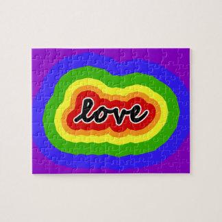 Puzzle Colores del amor y del orgullo del arco iris