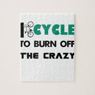 Puzzle Completo un ciclo para consumir el loco, bicicleta