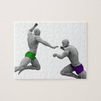 Puzzle Concepto de los artes marciales para luchar y la
