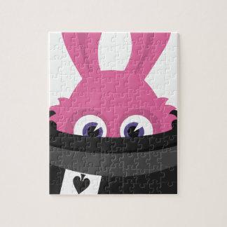 Puzzle Conejito rosado lindo para Pascua feliz