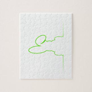 Puzzle Contorno de una liebre verde clara
