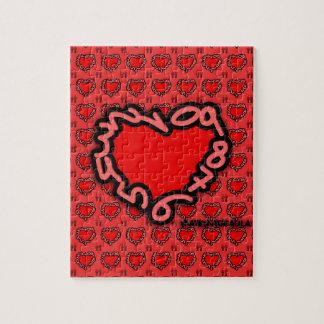Puzzle Corazón de números para enamorados