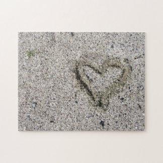 Puzzle Corazón romántico en desafío de la foto de la