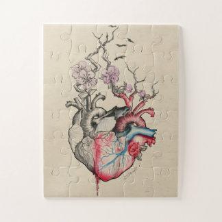 Puzzle Corazones anatómicos del arte dos del amor con las