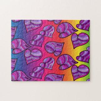 Puzzle Corazones coloridos